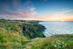 Por do sol no porto Gaverne Imagem de Stock Royalty Free