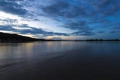 Por do sol no rio de Beni em Rurrenabaque, Bolívia Imagem de Stock