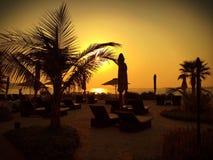Por do sol no ritz Fotografia de Stock