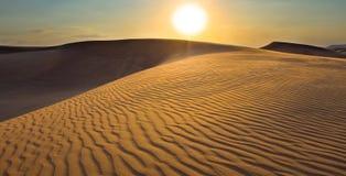 Por do sol no safari, Dubai Fotografia de Stock Royalty Free
