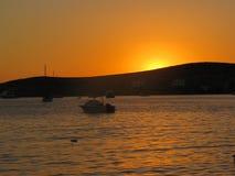 Por do sol no santorini Foto de Stock