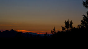 Por do sol no sarde de Rocce Imagem de Stock