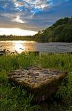 Por do sol no Shannon Fotos de Stock