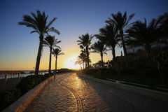 Por do sol no Sharm el Sheikh Foto de Stock