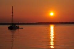 Por do sol no St Johns River imagem de stock