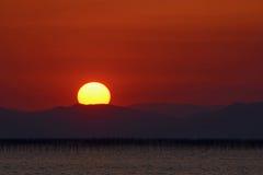 Por do sol no sul de Japão Imagens de Stock