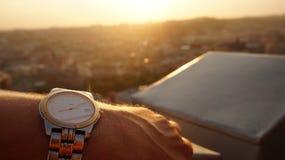Por do sol no telhado Fotos de Stock Royalty Free