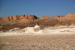 Por do sol no vale da lua, San Pedro de Atacama, o Chile foto de stock royalty free