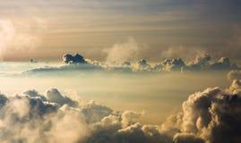 Por do sol no vulcão de Haleakala Fotografia de Stock Royalty Free