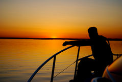 Por do sol norueguês Imagem de Stock