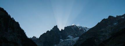 Por do sol nos cumes italianos Imagens de Stock Royalty Free