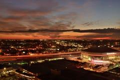 Por do sol Nova Orleães Fotografia de Stock