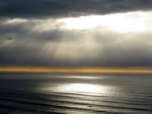 Por do sol o Pacífico Fotografia de Stock Royalty Free