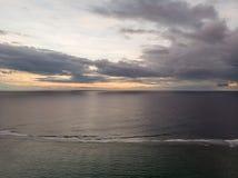 Por do sol do oceano de Mauritius Indian fotos de stock