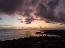 Por do sol do oceano de Mauritius Indian foto de stock royalty free