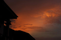 Por do sol oriental Imagem de Stock