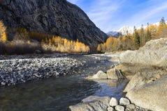 Por do sol do outono nos cumes de Valle d 'Aosta, foto de stock royalty free