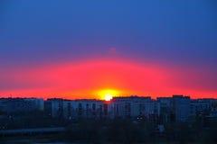 Por do sol, pôr do sol Fotografia de Stock