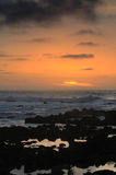 Por do sol pacífico Imagens de Stock Royalty Free