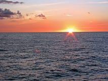 Por do sol pacífico Fotografia de Stock Royalty Free