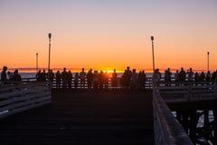 Por do sol pacífico da praia Imagem de Stock