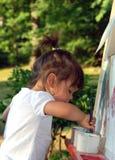 Por do sol Painting3 Imagem de Stock