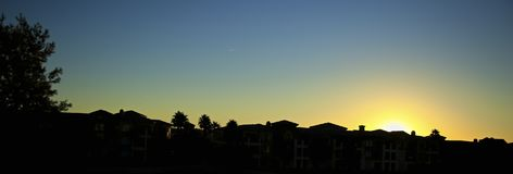 Por do sol Palm Desert Foto de Stock Royalty Free