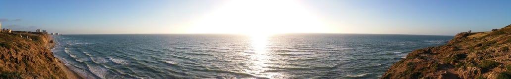 Por do sol panorâmico Imagens de Stock Royalty Free