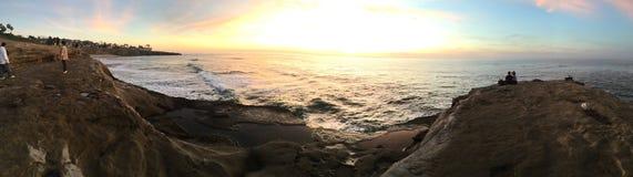 Por do sol panorâmico Foto de Stock