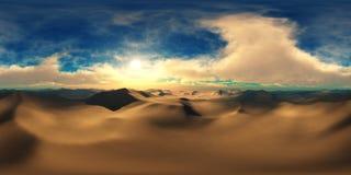 Por do sol do panorama mapa do ambiente HDRi ilustração royalty free
