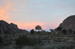 Por do sol, parque nacional de curvatura grande imagens de stock royalty free