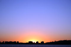 Por do sol, Perth sul imagem de stock