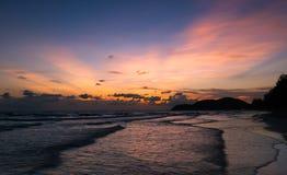 Por do sol Por do sol bonito na PARTE DO LESTE DE TAILÂNDIA Fotografia de Stock Royalty Free