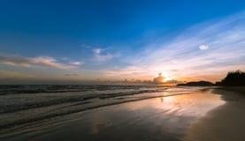 Por do sol Por do sol bonito na PARTE DO LESTE DE TAILÂNDIA Fotos de Stock Royalty Free
