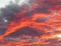 Por do sol primeiramente de roda de outubro imagens de stock