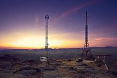 Por do sol Rojomaril em Serra de Gredos, Avila imagem de stock royalty free