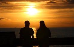 Por do sol romântico Fotografia de Stock