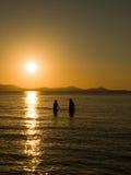 Por do sol romântico imagens de stock royalty free