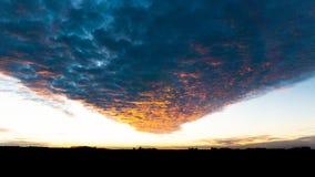 Por do sol rural de Iowa Wiinter imagens de stock