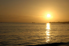 Por do sol Santa Barbara Foto de Stock