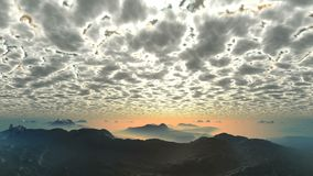 Por do sol sob as nuvens luminosas video estoque
