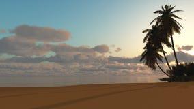 Por do sol sobre a água Imagem de Stock