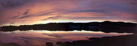 Por do sol sobre a baía do malin Foto de Stock