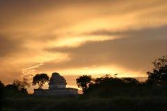 Por do sol sobre Chitzen-itsa Fotografia de Stock