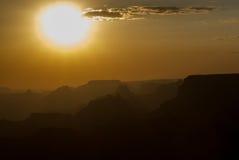 Por do sol sobre Grand Canyon #1 Fotos de Stock