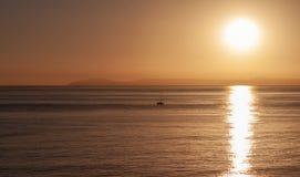 Por do sol sobre a ilha de Catalina em Califórnia Fotografia de Stock Royalty Free