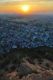 Por do sol sobre jaipur Fotografia de Stock Royalty Free