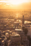 Por do sol sobre Londres Imagem de Stock Royalty Free