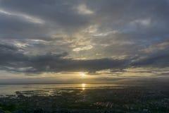 Por do sol sobre Manila Fotos de Stock