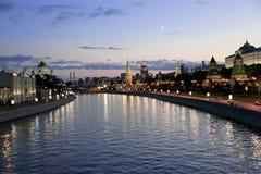 Por do sol sobre Moscovo Imagem de Stock